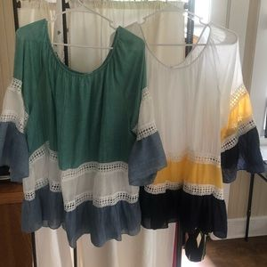 Fresh colorful tops